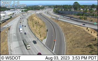 I-5 SB at MP 132.4: SR 16 Interchange