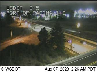 I-5 at MP 136.1: Port of Tacoma I/C