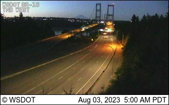 Tacoma Narrows Bridge, Westside