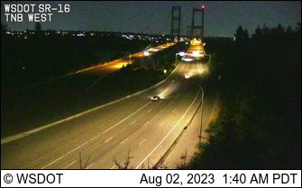 SR 16 at MP 8.5: Tacoma Narrows Bridge, Westside