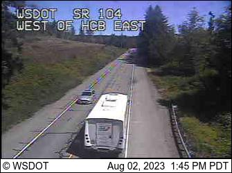 SR 104 at MP 12.1: W of Hood Canal Bridge VMS East