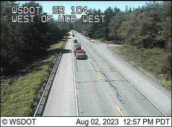 SR 104 at MP 12.1: W of Hood Canal Bridge VMS West