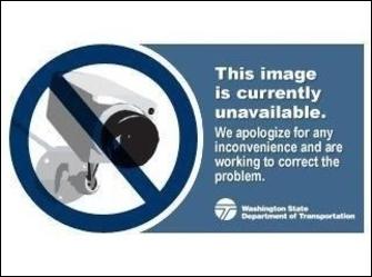 SR 104 at MP 14.7: Hood Canal Bridge Looking West