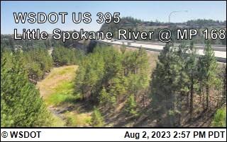 US 395 at MP 168: Little Spokane River (1)