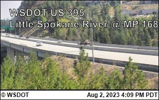 US 395 at MP 168: Little Spokane River (3)