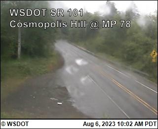 US 101 at MP 78.3: Cosmopolis Hill