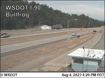 Bullfrog-facing east on I-90 @ MP 79.54