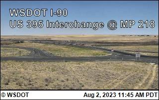 I-90 at MP 220: US 395 Interchange @ Ritzville (2)