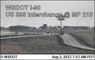 I-90 at MP 220: US 395 Interchange @ Ritzville (4)