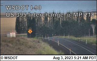 I-90 at MP 220: US 395 Interchange @ Ritzville (8)