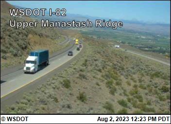 I-82 at MP 7.7: Manastash Ridge Summit