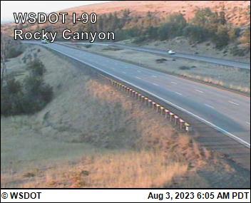Rocky Canyon on I-90 @ MP 96.2