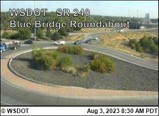 SR 240 at MP 43.1: Blue Bridge Roundabout