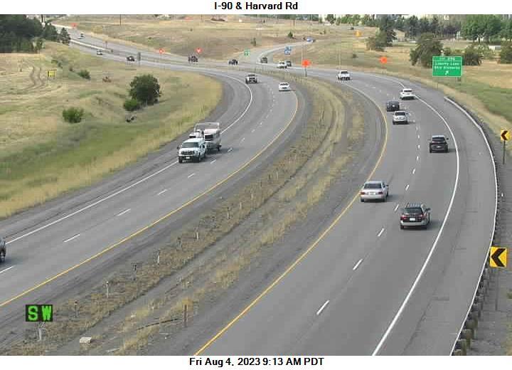 I-90 at MP 296.8: Harvard Rd