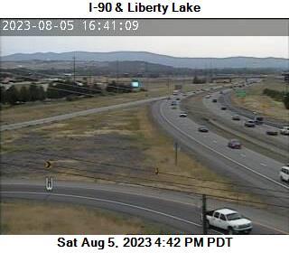 I-90 at MP 296.2: Liberty Lake Rd
