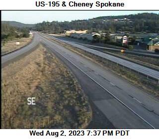 US 195 at MP 93.8: Cheney Spokane Rd