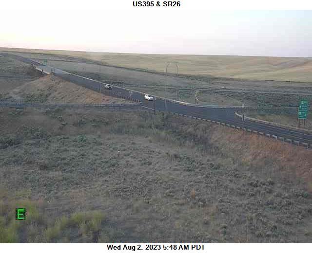 US 395 at MP 66.7: SR 26 Interchange Hatton Coulee
