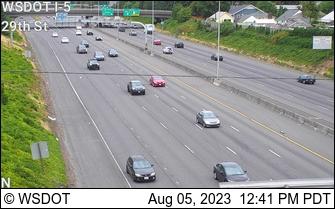 I-5 at MP 1.8: 29th St