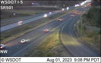 I-5 at MP 14.2: SR 501 Interchange