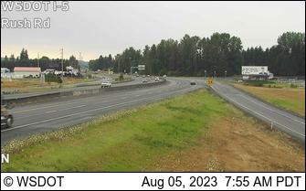 I-5 at MP 72.8: Rush Rd