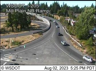I-205 at MP 28.4: Mill Plain Interchange