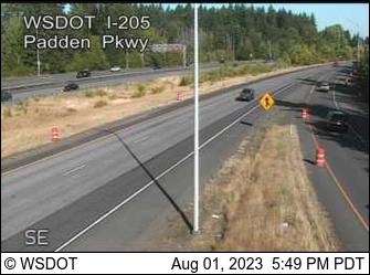 I-205 at MP 32.9: Padden
