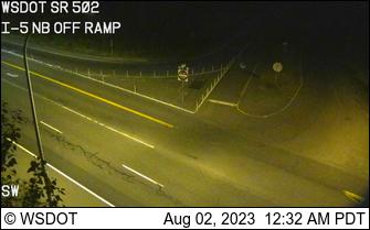 SR502 @ I-5 NB off ramp