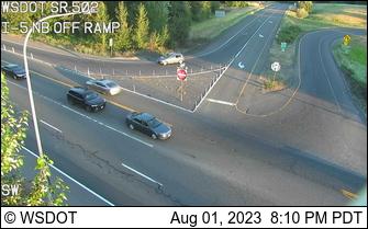 SR 502 at MP 0.5: I-5 NB off ramp