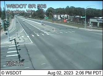 SR 503 at MP 7.3: Scotton Way